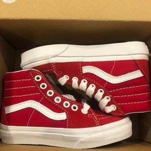 New Toddler Vans SK-8 Hi Red Sz 11C